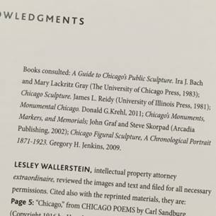 Acknowledgement page inside Larry Broutman's book, thanking Lesley Wallerstein