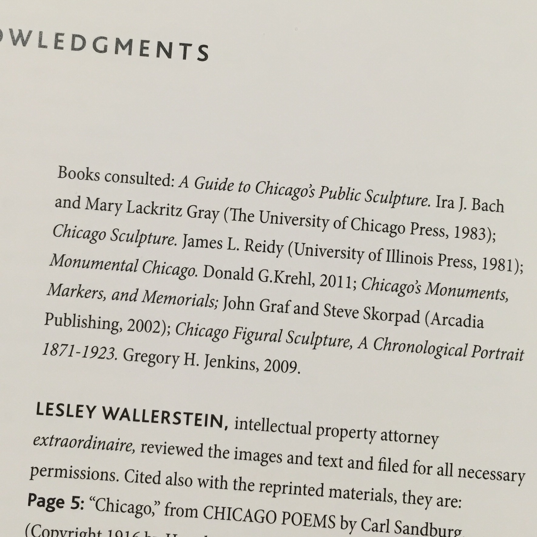 Acknowledgements in Larry Broutman's new book