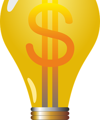 lightbulb formed with money symbol