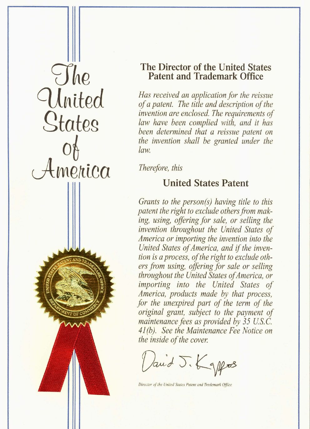 One–and done! Utility patent allowed in 9 months flat.