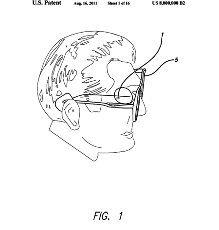 Diagram of Patent #8,000,000: artificial vision possible with a prosthetic retina