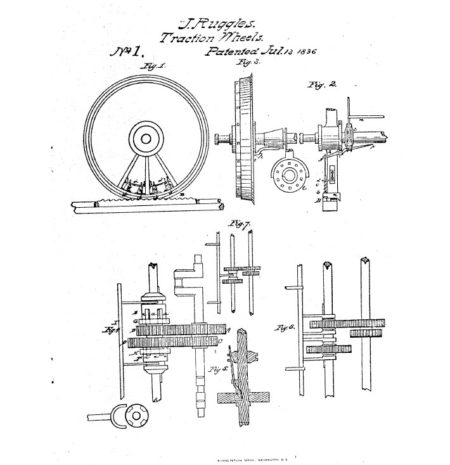 Diagram of Patent #1, traction wheels