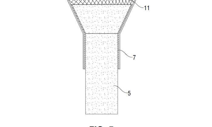 Diagram for a three-part ice cream cone patent