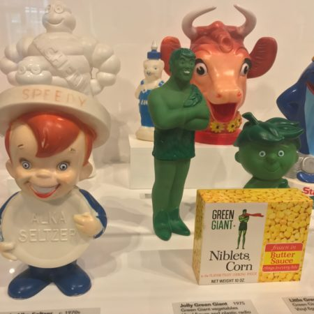 Brand mascots at the Inventor's Hall of Fame museum