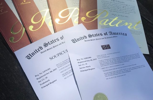 4 patents and 2 trademarks