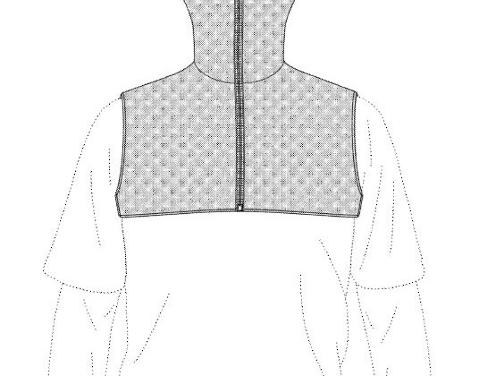 Patented Combination Scarf and Vest - Yes you can patent clothing
