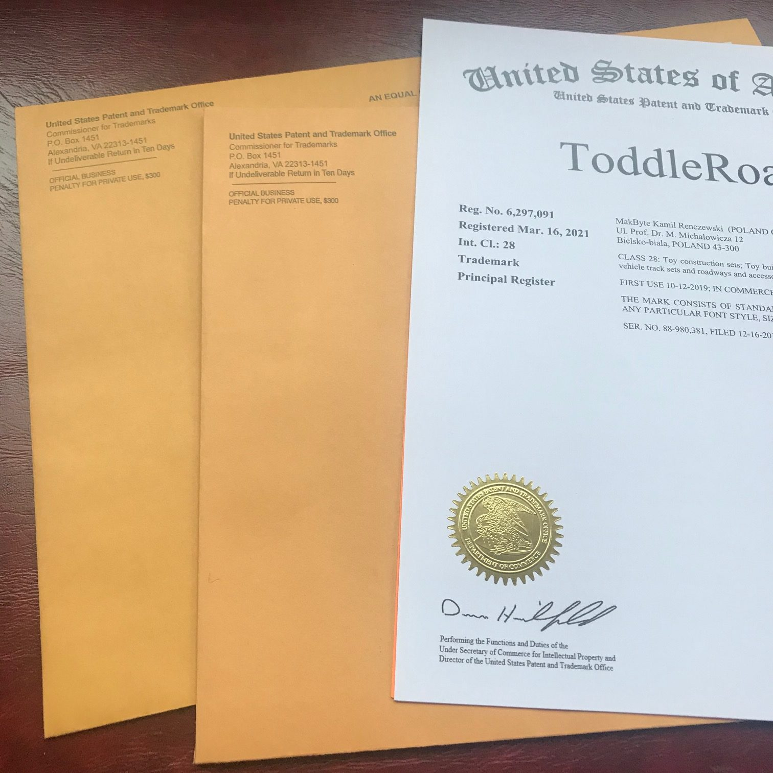 Three Happy Clients Receive Trademarks